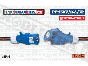 PP 230V 16A IP44 TITANEX