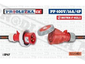 PP 400V 16A IP67 4P TITANEX