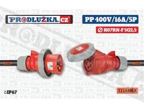 PP 400V 16A IP67 5P TITANEX