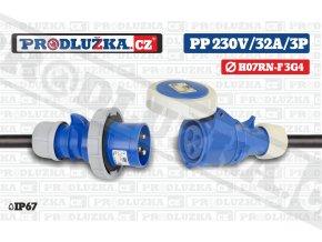 PP 230V 32A IP67 3P