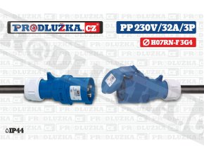 PP 230V 32A IP44 3P 4