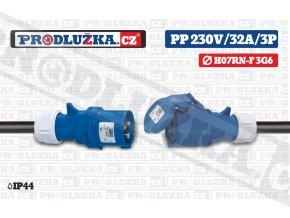 Prodlužovací přívod 230V/32A/3p/3G6/IP44