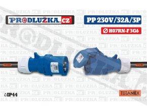 PP 230V 32A IP44 3P 6 TITANEX
