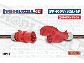 PP 400V 32A IP44 4P 6 TITANEX