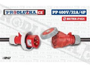PP 400V 32A IP67 4P 4