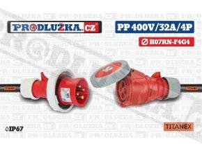 PP 400V 32A IP67 4P 4 TITANEX
