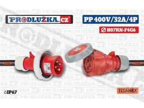 PP 400V 32A IP67 4P 6 TITANEX