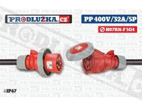PP 400V 32A IP67 5P 4