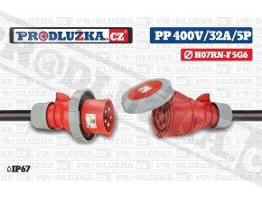 PP 400V 32A IP67 5P 6