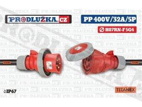 PP 400V 32A IP67 5P 4 TITANEX