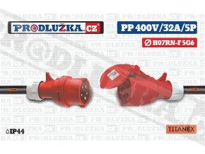 PP 400V 32A IP44 5P 6 TITANEX