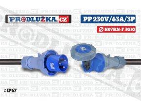 PP 230V 63A IP67 3P 10