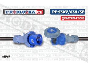 PP 230V 63A IP67 3P 16