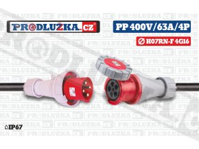 PP 400V 63A IP67 4P 16