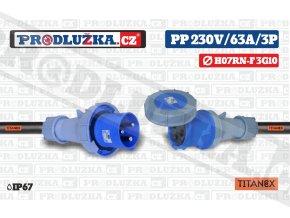 PP 230V 63A IP67 3P 10 TITANEX