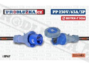 PP 230V 63A IP67 3P 16 TITANEX
