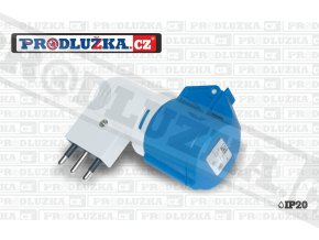 1x zásuvka CEE 230V/16A/3p-1x vidlice CZ 230V/16A/3p IP44