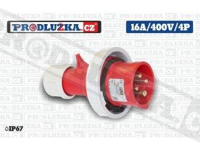 vidlice 16A 400V 4P IP67
