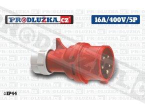 vidlice 16A 400V 5P IP44