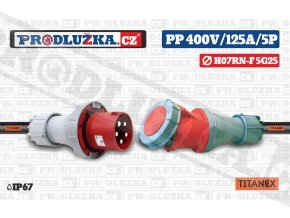 PP 400V 125A IP67 5P 25 TITANEX