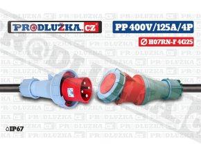 PP 400V 125A IP67 4P 25