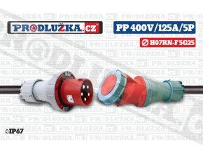 PP 400V 125A IP67 5P 25