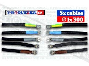 SADA 5 x cable 1 x 300 , 741A , průměr oka 12 mm