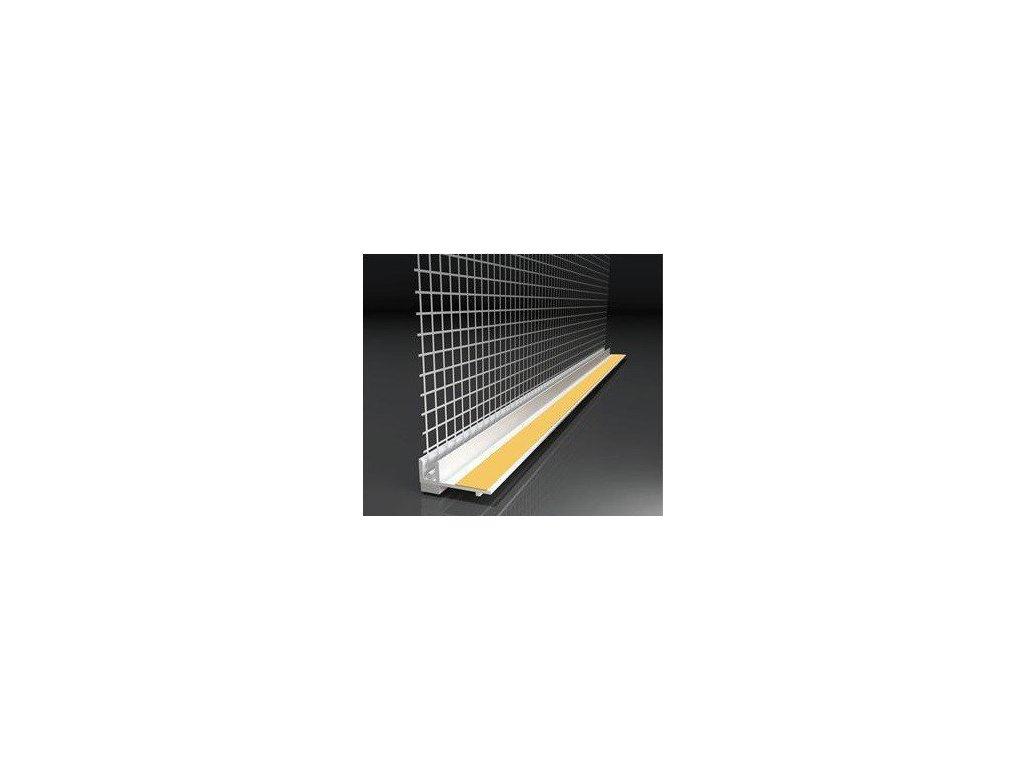 Začišťující okenní profil s tkaninou 6mm APU lišta 2,4 m