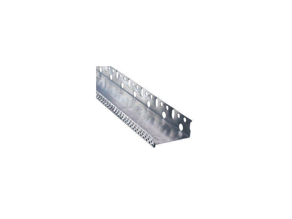Soklová lišta zakládací AL s okapničkou tl. 0,6 mm / š. 8 cm / d. 2 m