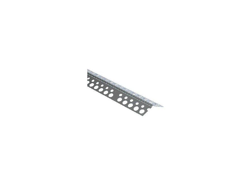 Rohová lišta AL bez tkaniny 135° (25x25mm) d. 3m s otevřeným úhlem