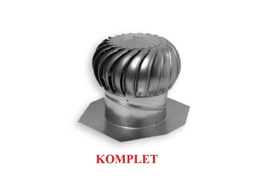 "Ventilační turbína hliníková 12"" 305mm AIR HAWK (komplet)"