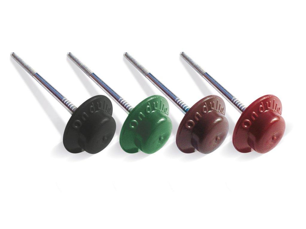 Střešní HŘEBY černé PVC pro bitumenové desky 100 ks