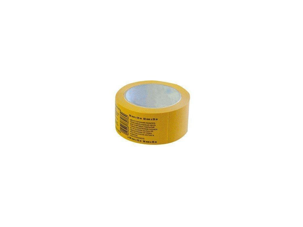 Lepicí páska oboustranná 50mm x 25m PROFI s textilní výztuží