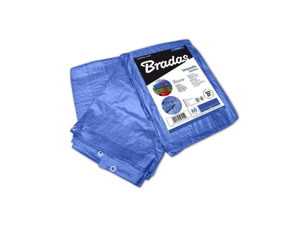 Krycí plachty 5 x 8 m modrá 60g/m2 dvojitá výztuž - kovová oka