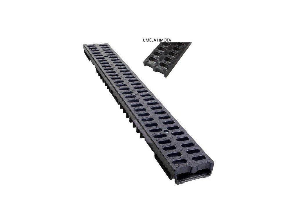 Odvodňovací žlab PVC mříž 1,5t (1000x130x55)