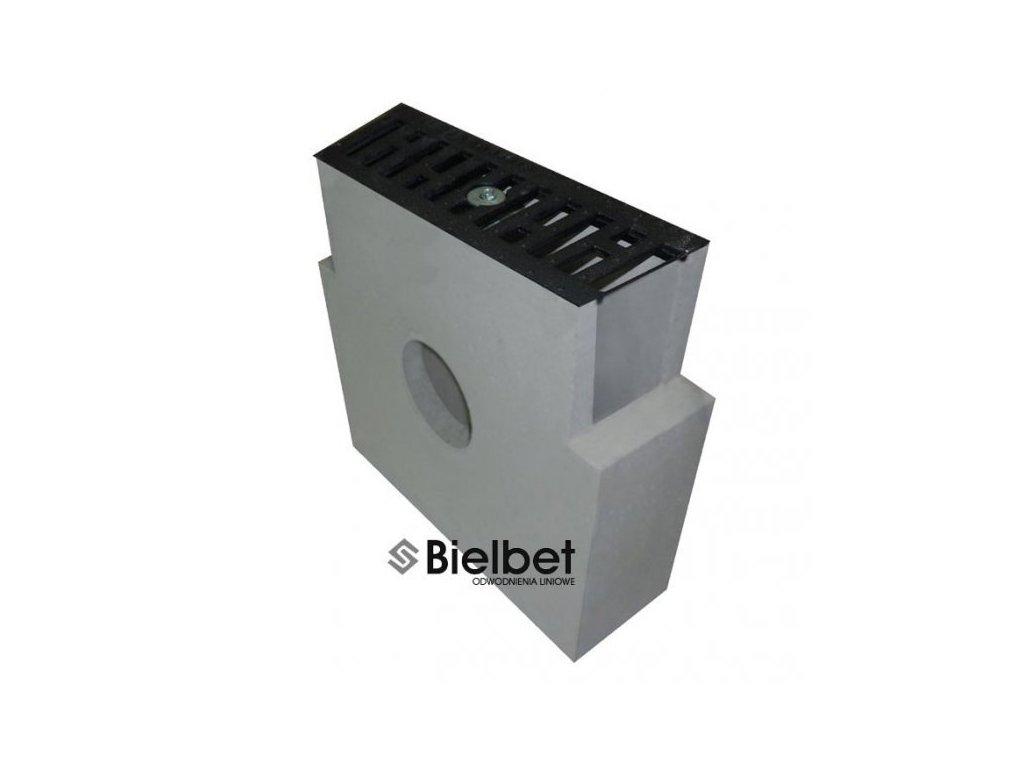 Sběrná vpusť žlab BETONOVÁ 160 šedá litina 12,5t (400x130x380)
