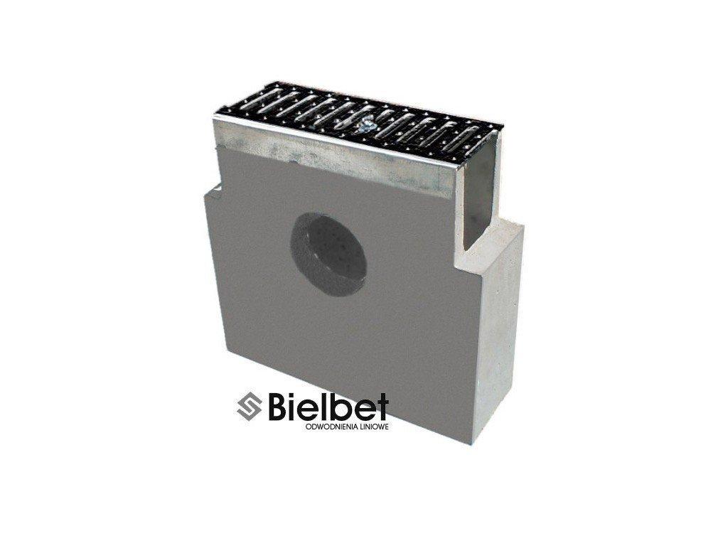 Sběrná vpusť žlab BETONOVÁ 200 litina 25t (400x145x450)