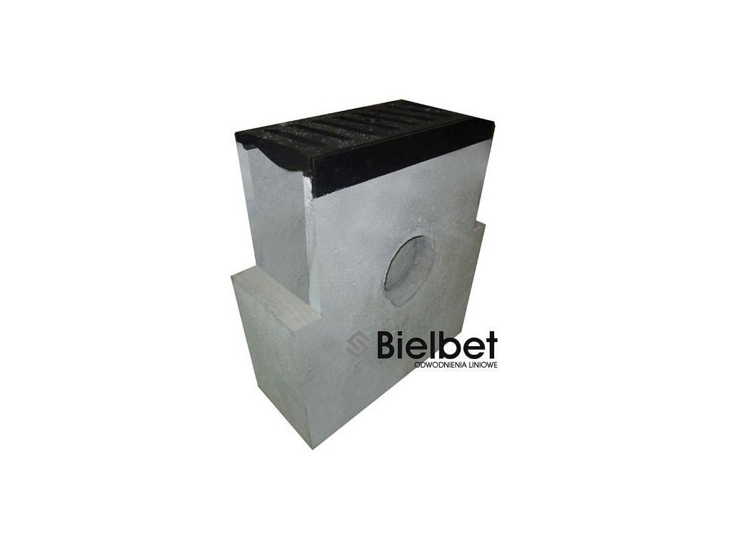Sběrná vpusť žlab BETONOVÁ 200 litina 40t (620x250x700)