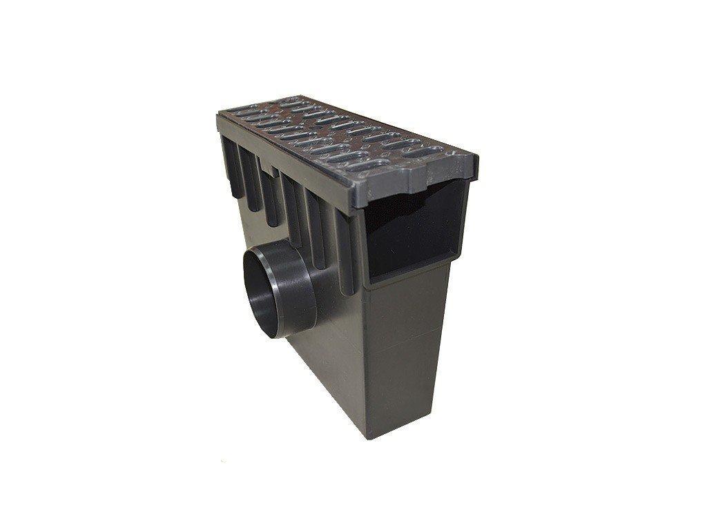 Sběrná vpusť 105 PVC + plastová mříž 1,5t (330x130x300)