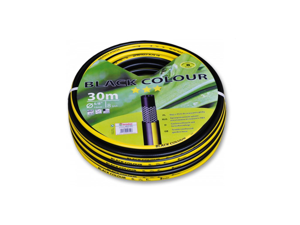 "Zahradní hadice BLACK COLOUR 1/2"" - 20m (3-vrstvá)"