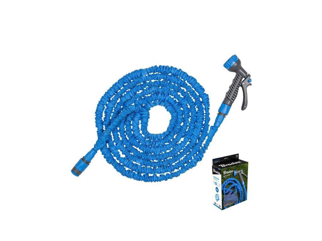 Smršťovací hadice 5-15m s rozprašovačem + příslušenství MODRÁ