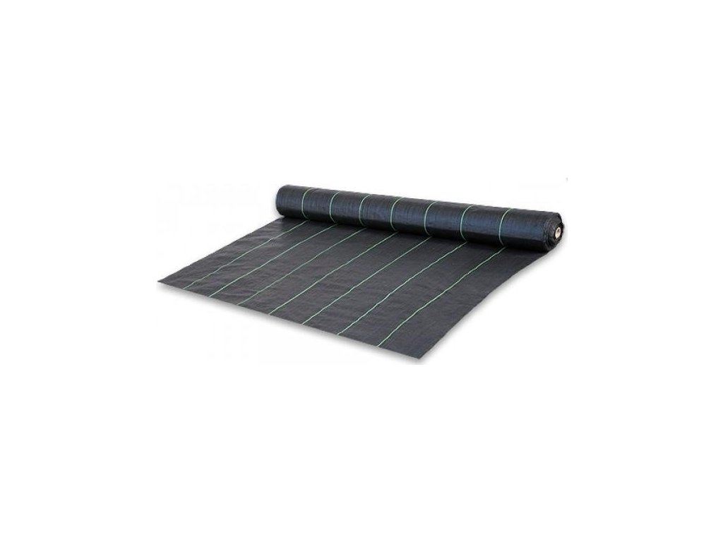 Tkaná textilie mulčovací s pruhy 1,1x100m tkanina (90g/m2)