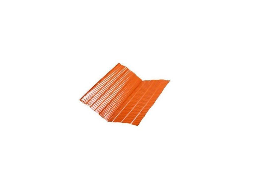 Střešní úžlabí hliníkové 2m červeno hnědé