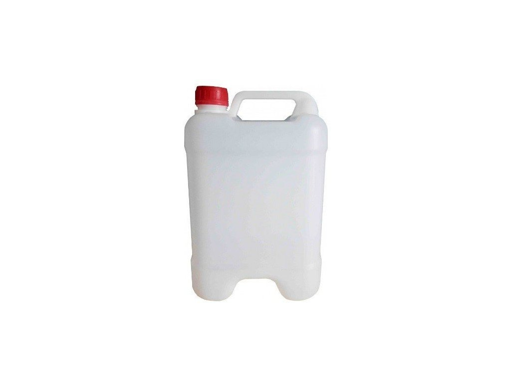 Plastový kanystr 5 litrů PVC stohovatelný