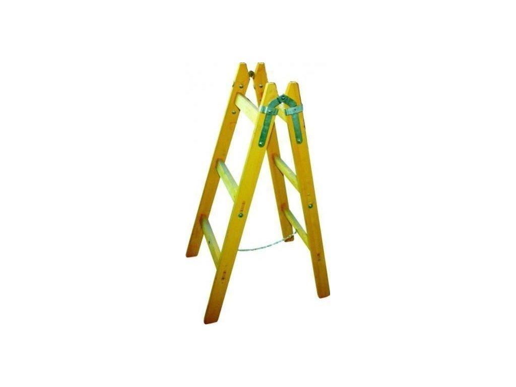 Dřevěné štafle 4 příčky s vymezovacím řetízkem