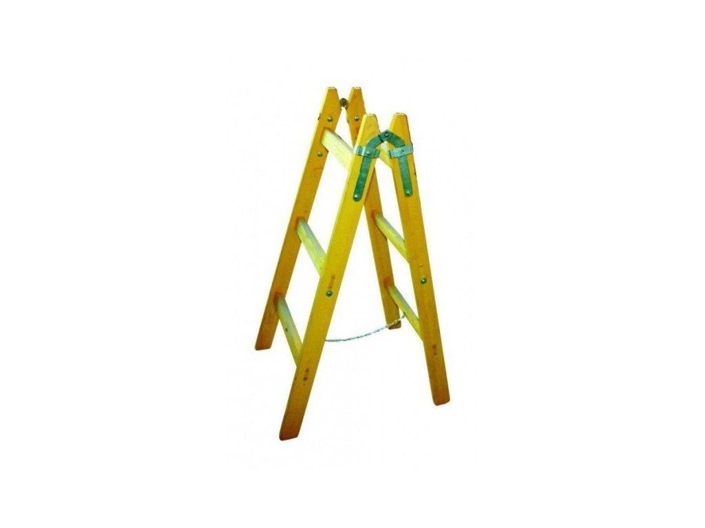 Dřevěné štafle 9 příček s vymezovacím řetízkem