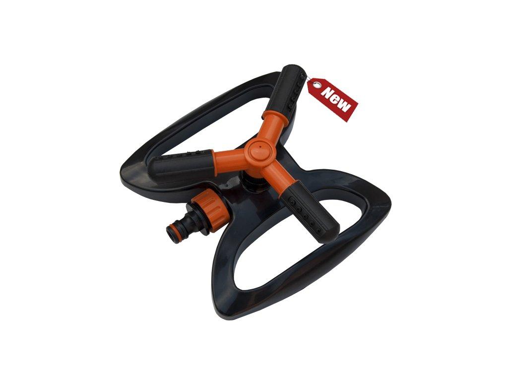 Tříramenný zavlažovač rotační s nastavitelnými rameny (rozstřik 9m)