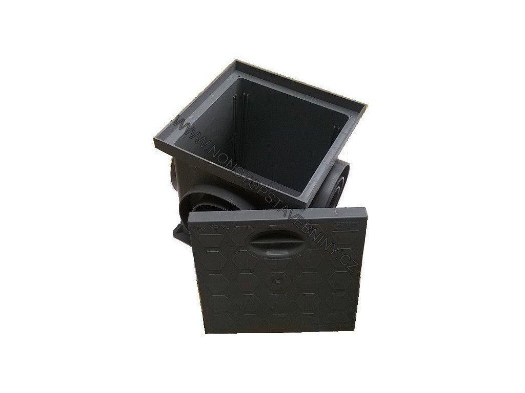 Revizní šachta ŠEDÁ 250 x 250 mm s poklopem KOMPLET
