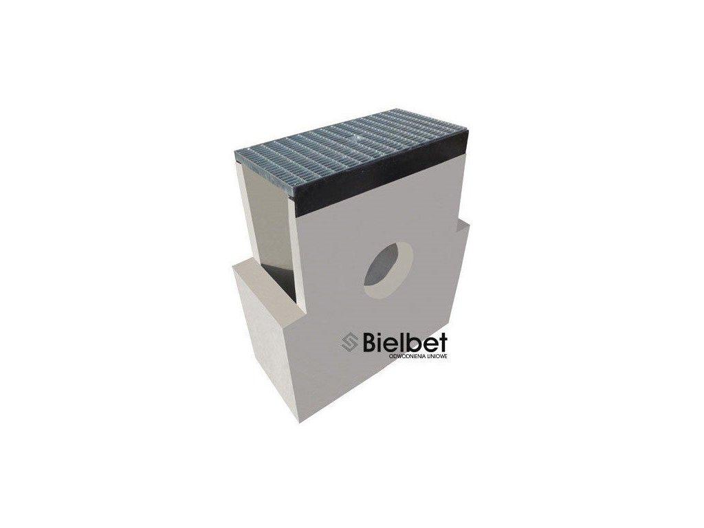 Sběrná vpusť žlab BETON 300 hustý rošt pozink 1,5t (620x250x700)