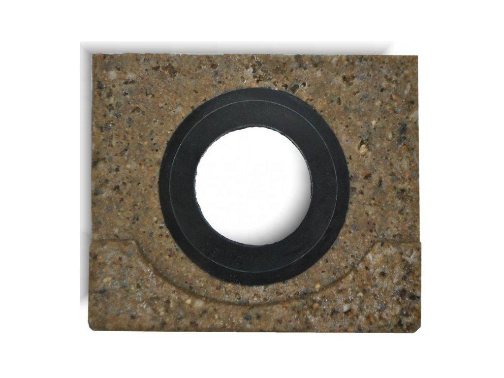Koncovka žlabu s odtokem 125 x 100 mm pro polymerbetonové žlaby